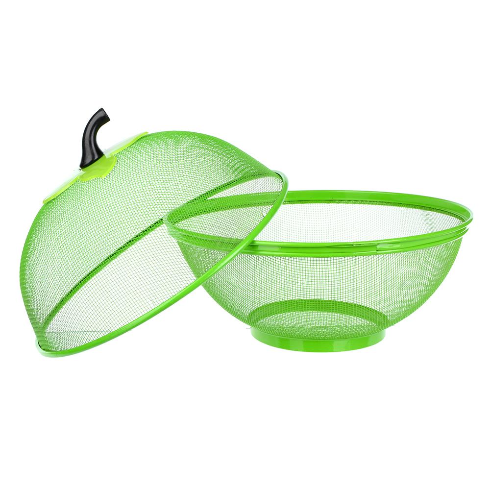 Ваза для фруктов, d25  см, металл, пластик, 3 цвета