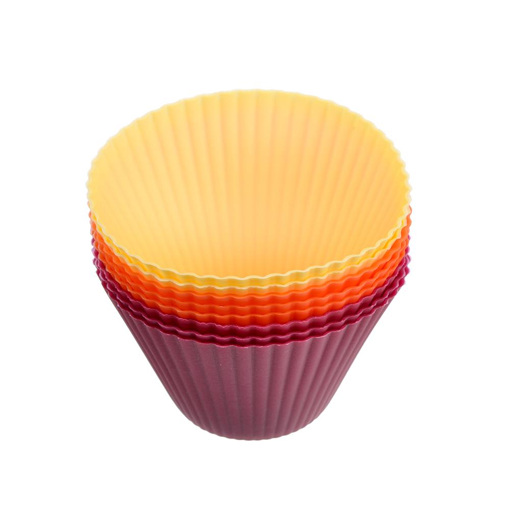 """Набор форм для выпечки, 8 шт, силикон, 8x5 см, VETTA """"Кекс"""""""