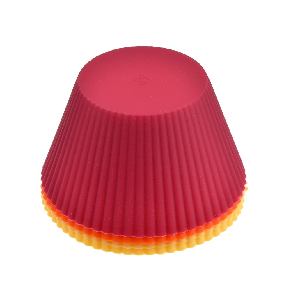 """Набор форм силиконовых, 4шт, 10x6,5 см, VETTA """"Кекс"""""""