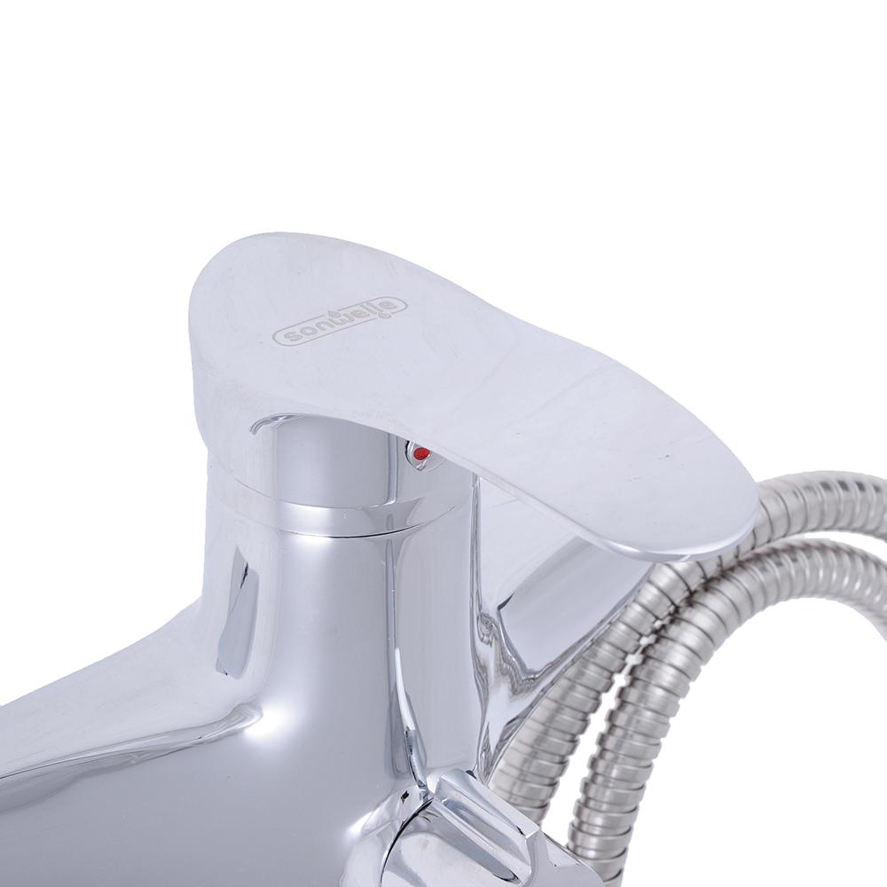 """Смеситель для ванны, длинный излив, картридж 40 мм, с набором для душа, латунь, """"Мира"""" SonWelle"""