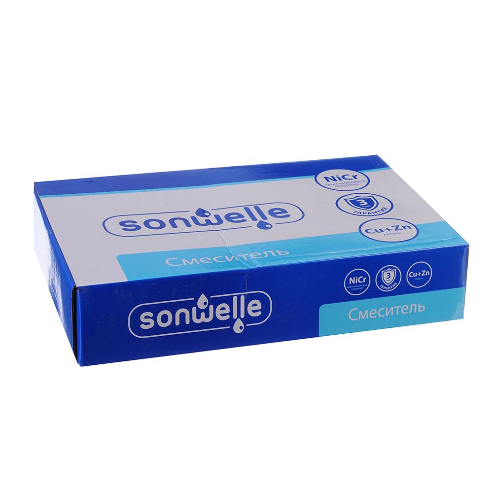"""Смеситель для раковины, высокий излив, керамические кран-буксы 1/2, латунь, """"Венера"""" SonWelle"""