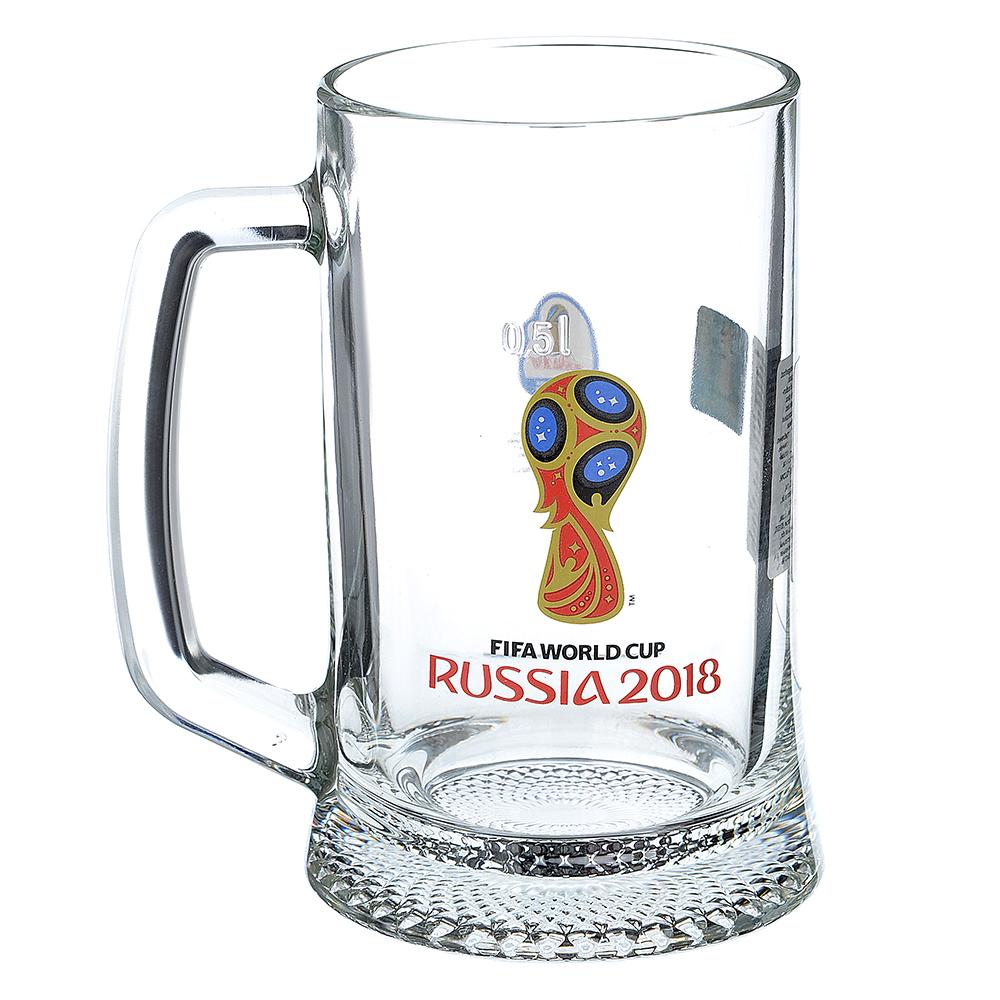 "ОСЗ FIFA Кружка для пива ""Ладья"" 500 мл ""Эмблема"", арт 6947/0"