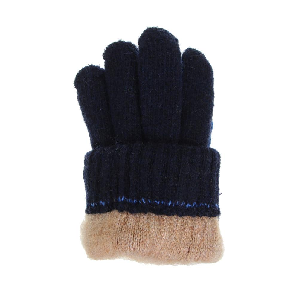 Перчатки детские утепленные, 5-7 лет, 100% акрил, 3 цвета
