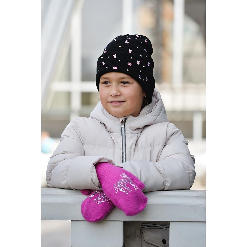 Варежки детские, 5-7 лет, 10% ангора, 90% акрил, 3 цвета