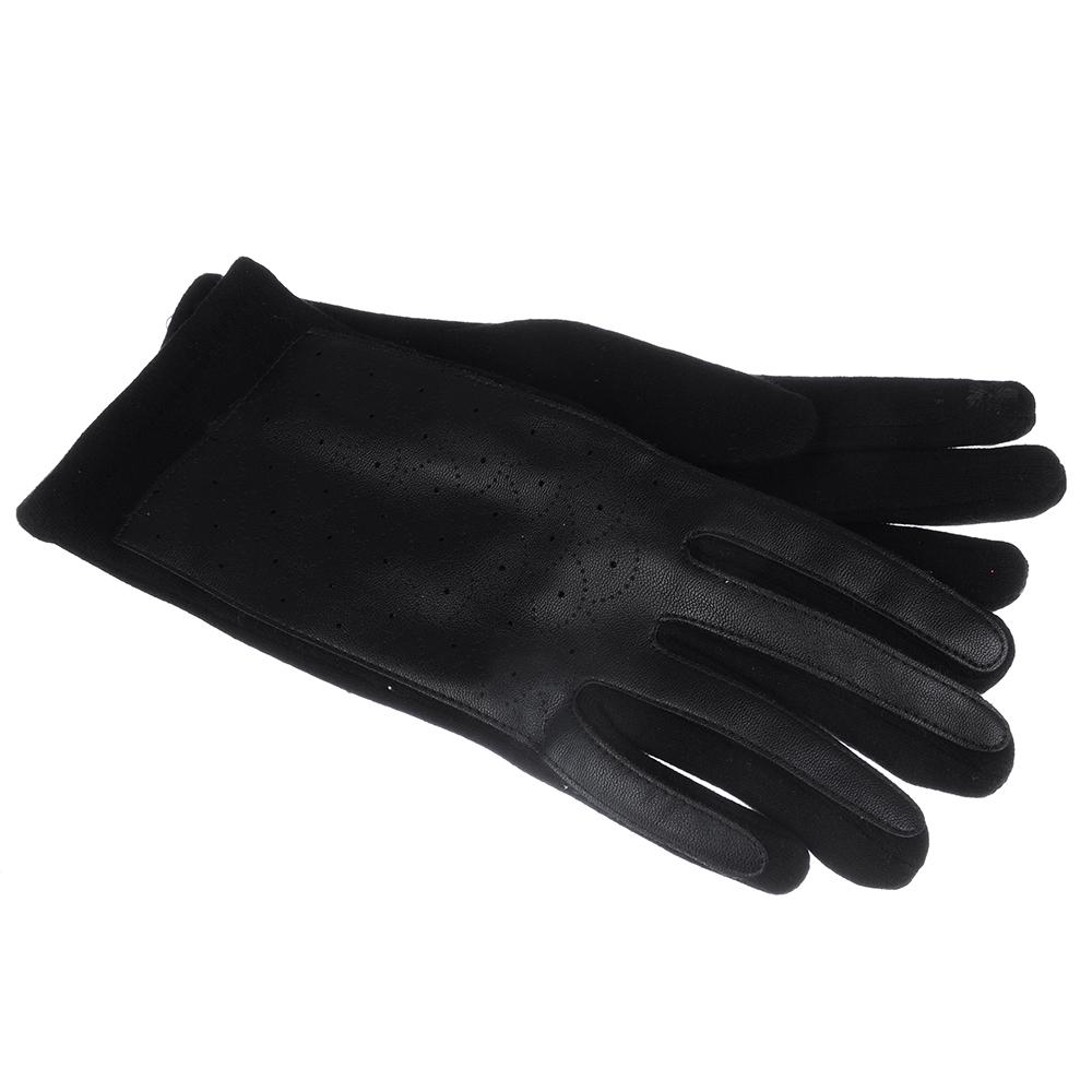 Перчатки женские контактные, р-р свободный, полиэстер, ПУ, хлопок, 2 цвета, ПВ188-38