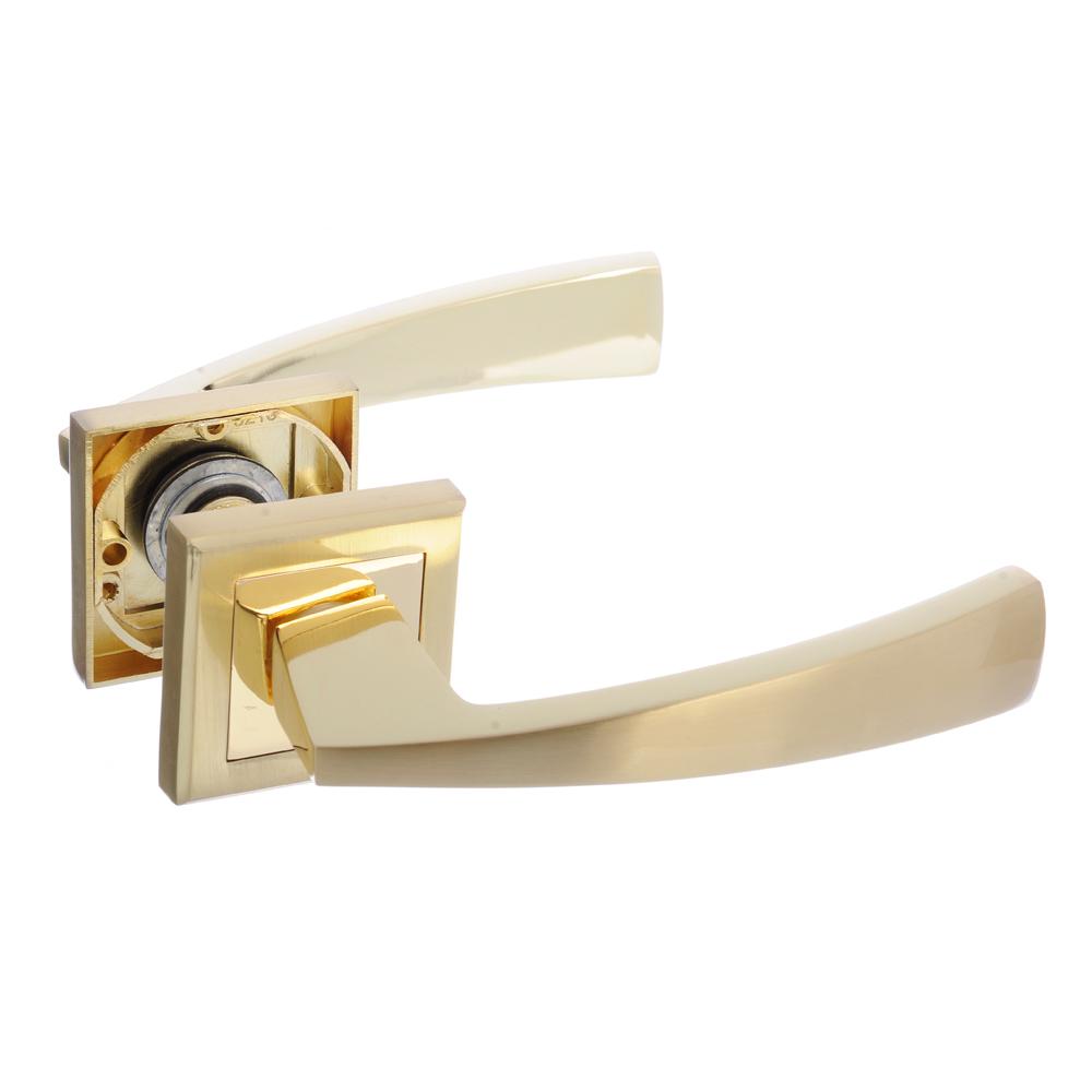 Ручки дверные раздельные А1312 PB/SB золото/матовое золото (ЦАМ/Алюминий)
