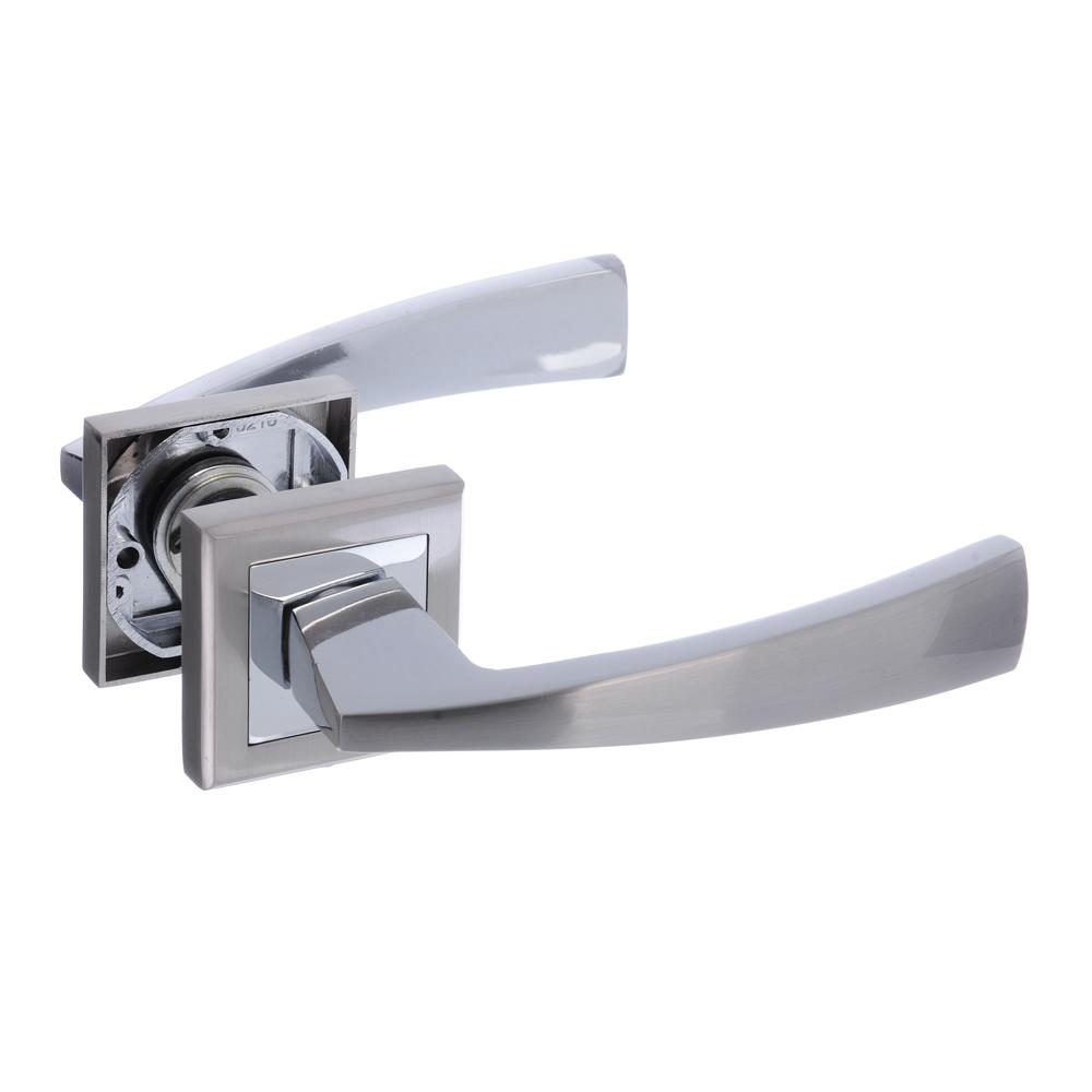 Ручки дверные раздельные А1312 CP/SN хром/матовый хром (ЦАМ/Алюминий)
