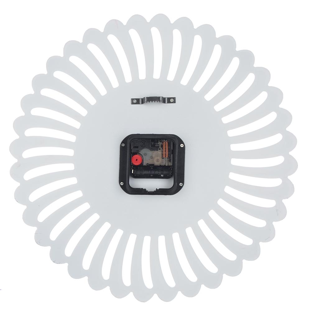 Часы настенные, МДФ со стразами, 40 см, 1хАА, белые, арт 02