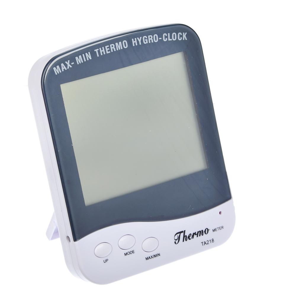 INBLOOM Термометр электронный, выносной датчик, часы, влажность, 12.4x9.8см, пластик, 1xAAA
