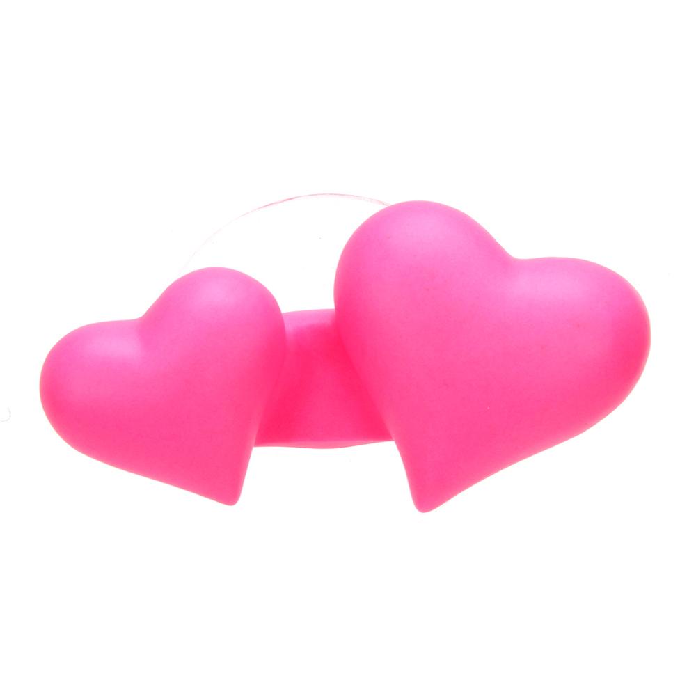 Держатель для зубной щетки на присоске в виде сердца, 9х4,5х3см, ПВХ, 2 цвета