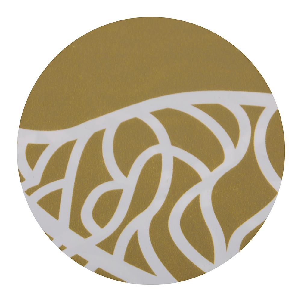 """VETTA Шторка для ванной, ЕВА, 180х180см, """"Ажурные листья"""", золото/серебро, 2 дизайна"""