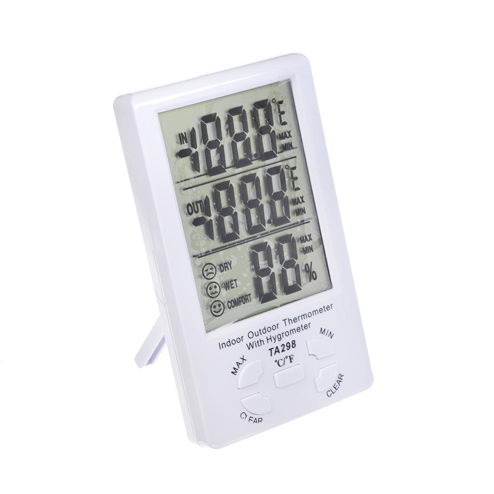INBLOOM Термометр электронный, выносной датчик температуры, влажность, 15x9см, пластик, 1xAAA