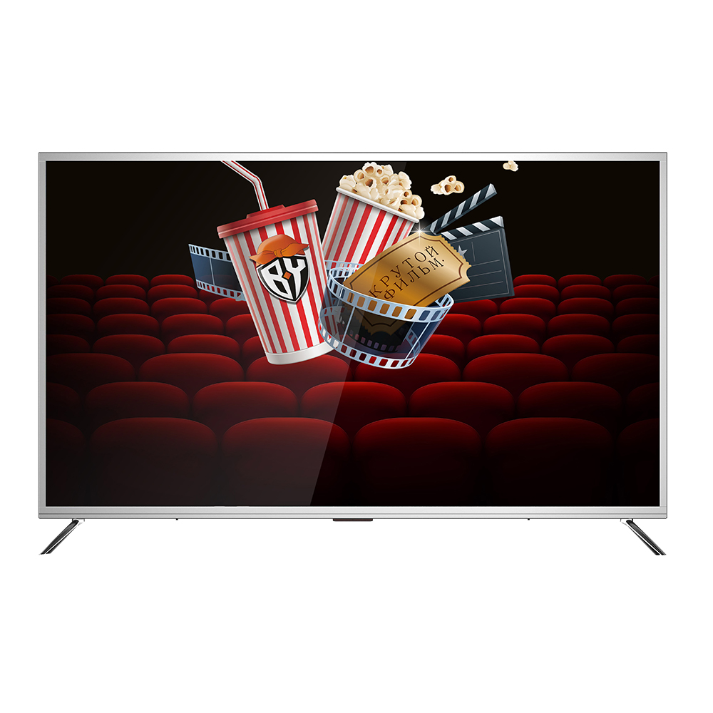 "LEBEN ЖК-телевизор, диагональ 50"" (127см), UHD Smart, алюминий модель LE-LED50US282TS2"