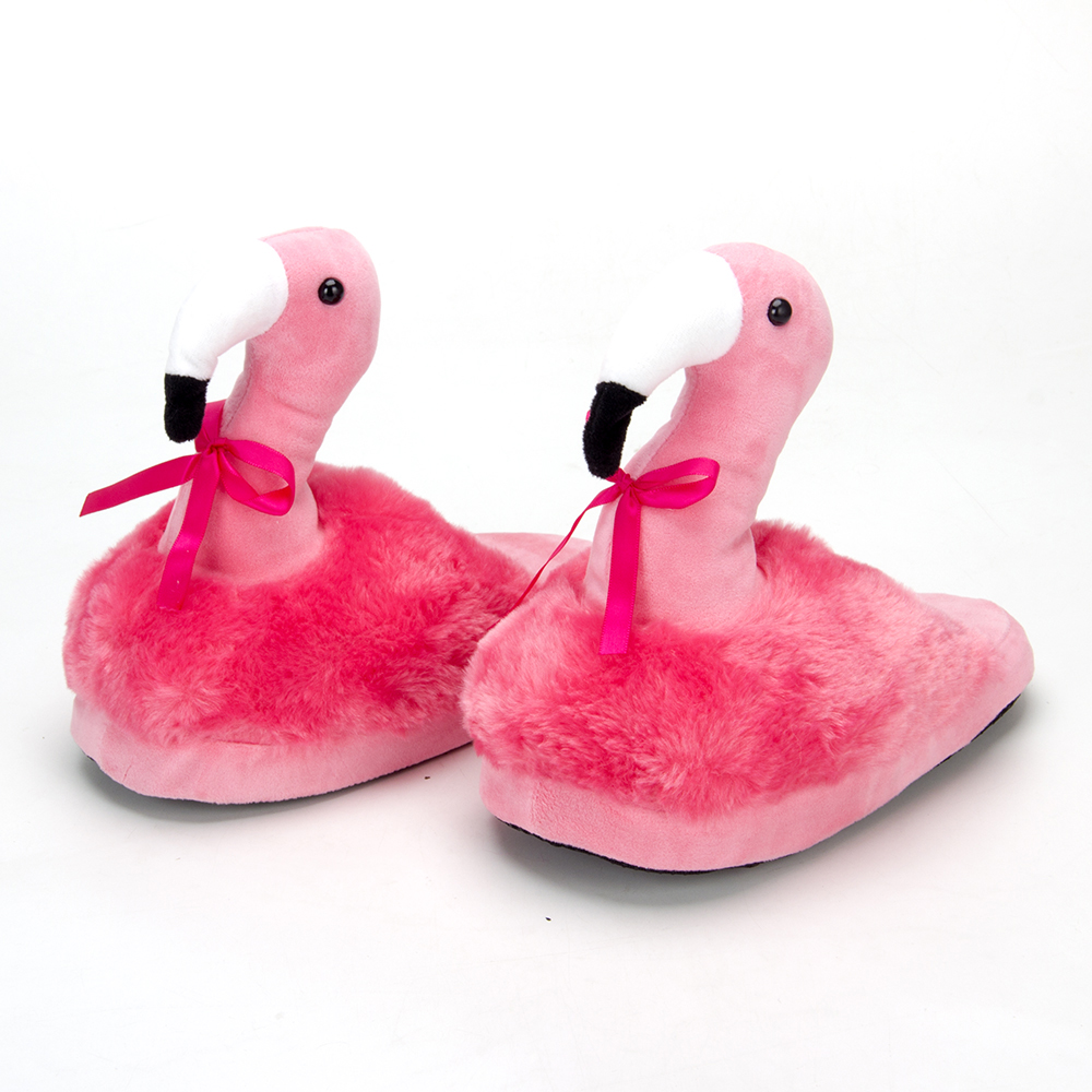 Тапочки в форме фламинго, полиэстер, 30х25см взрослые