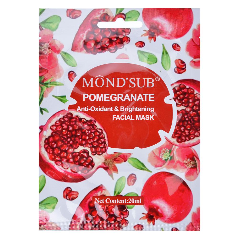Маска для лица Mondsub с антиоксидантным эффектом для сияния кожи с гранатом, 20мл