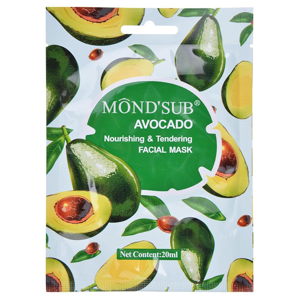 Маска для лица Mondsub питательная с авокадо, 20мл