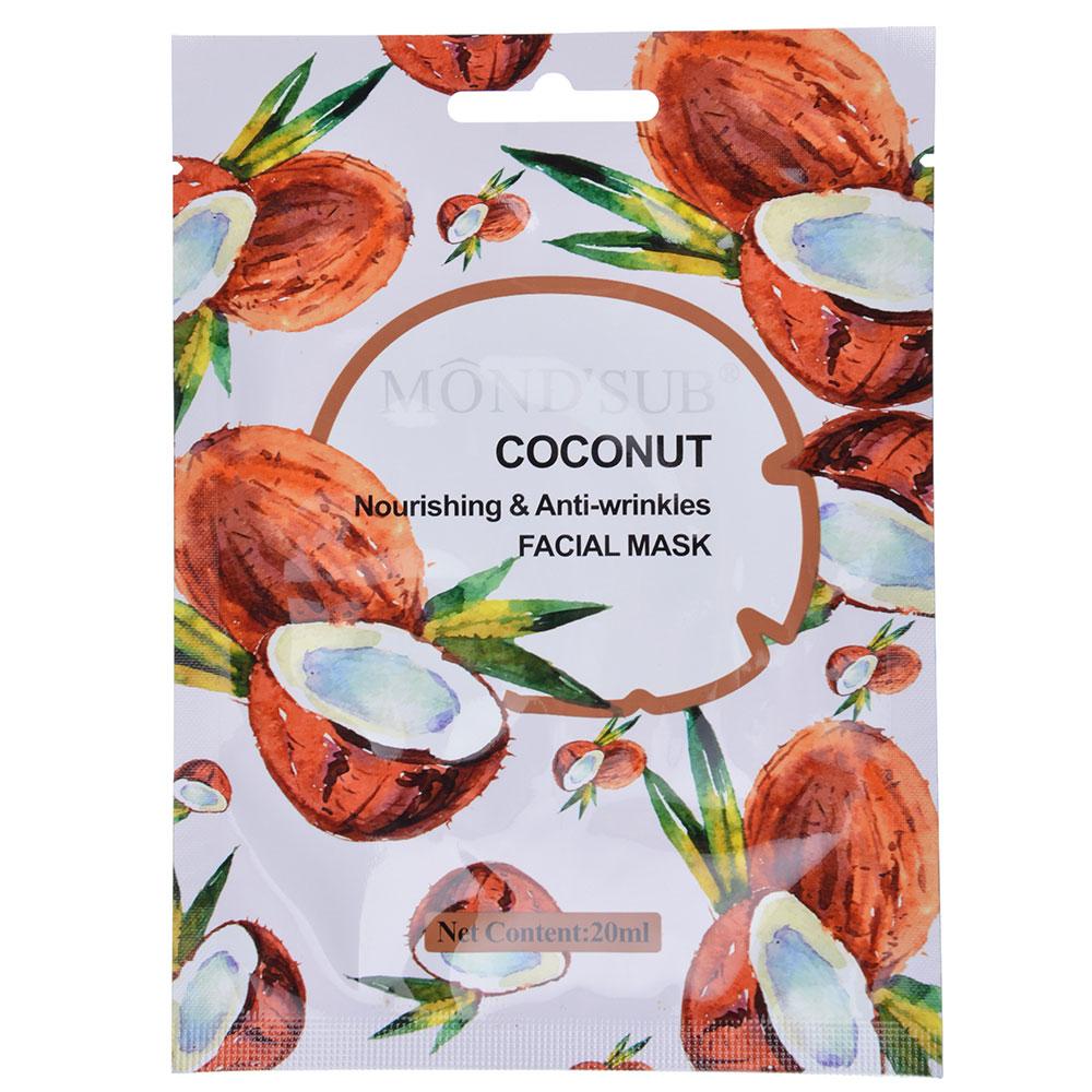 Маска для лица Mondsub питательная против морщин с кокосовым маслом, 20мл