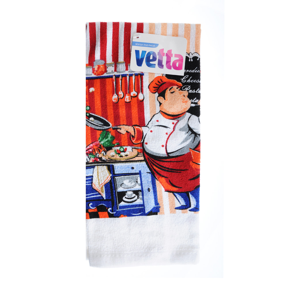 VETTA Шеф-повар Полотенце кухонное, 80% хлопок 20% полиэстер, 38x63см, GC