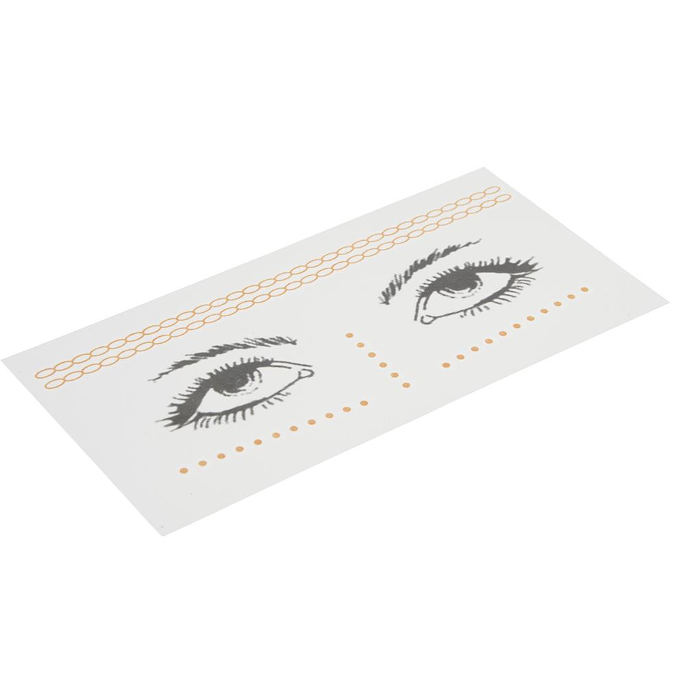 Тату-наклейки для лица, бумага, 16,4х8см, 3 дизайна