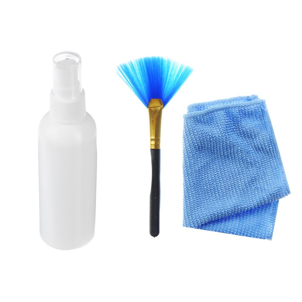 FORZA Набор для ухода за оргтехникой, 3 предмета: жидкость, щетка, салфетка