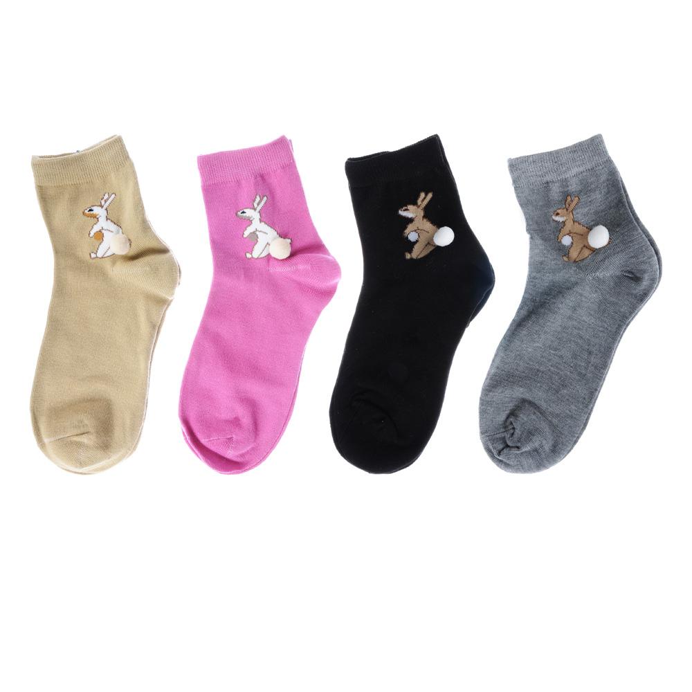 Носки женские, р-р 23-25, хлопок 80%, акрил 20%, 4 цвета, #2