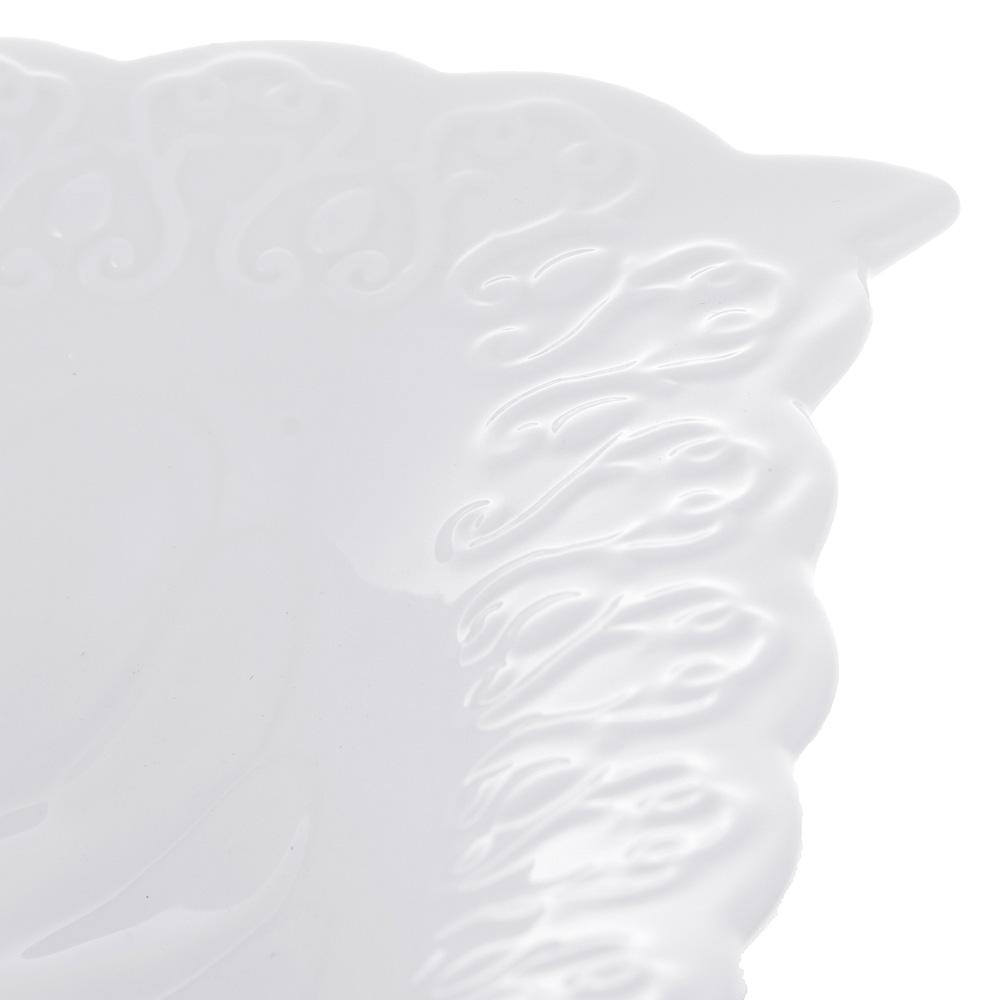 """Ваза для фруктов, фарфор, 30,5х20,5х5 см, рельеф, MILLIMI """"Жемчуг"""""""