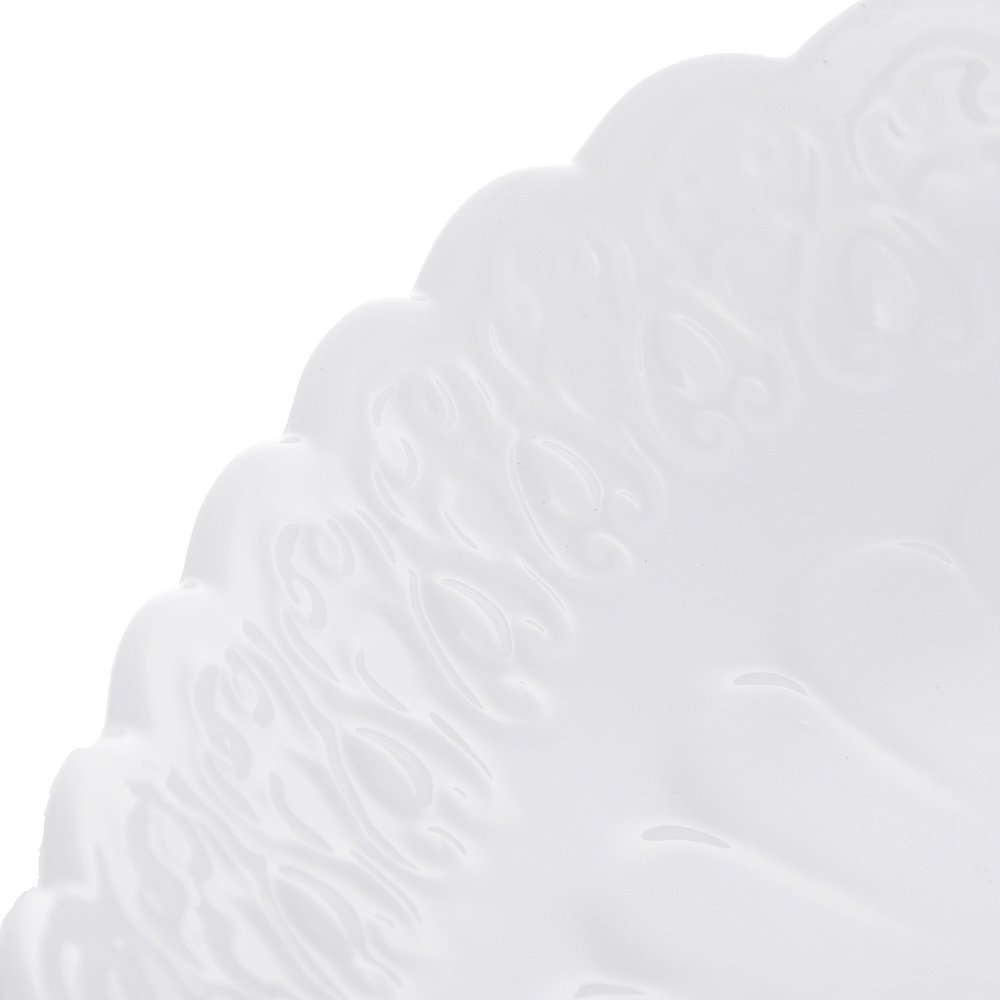 "Блюдо сервировочное фарфоровое, 25,5х25,5х5 см, рельеф, MILLIMI ""Жемчуг"""