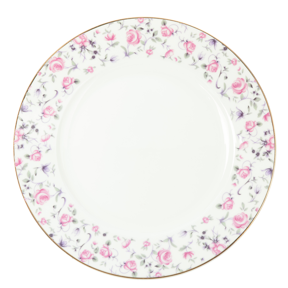 "Тарелка десертная, костяной фарфор, 20 см, MILLIMI ""Пастораль"""