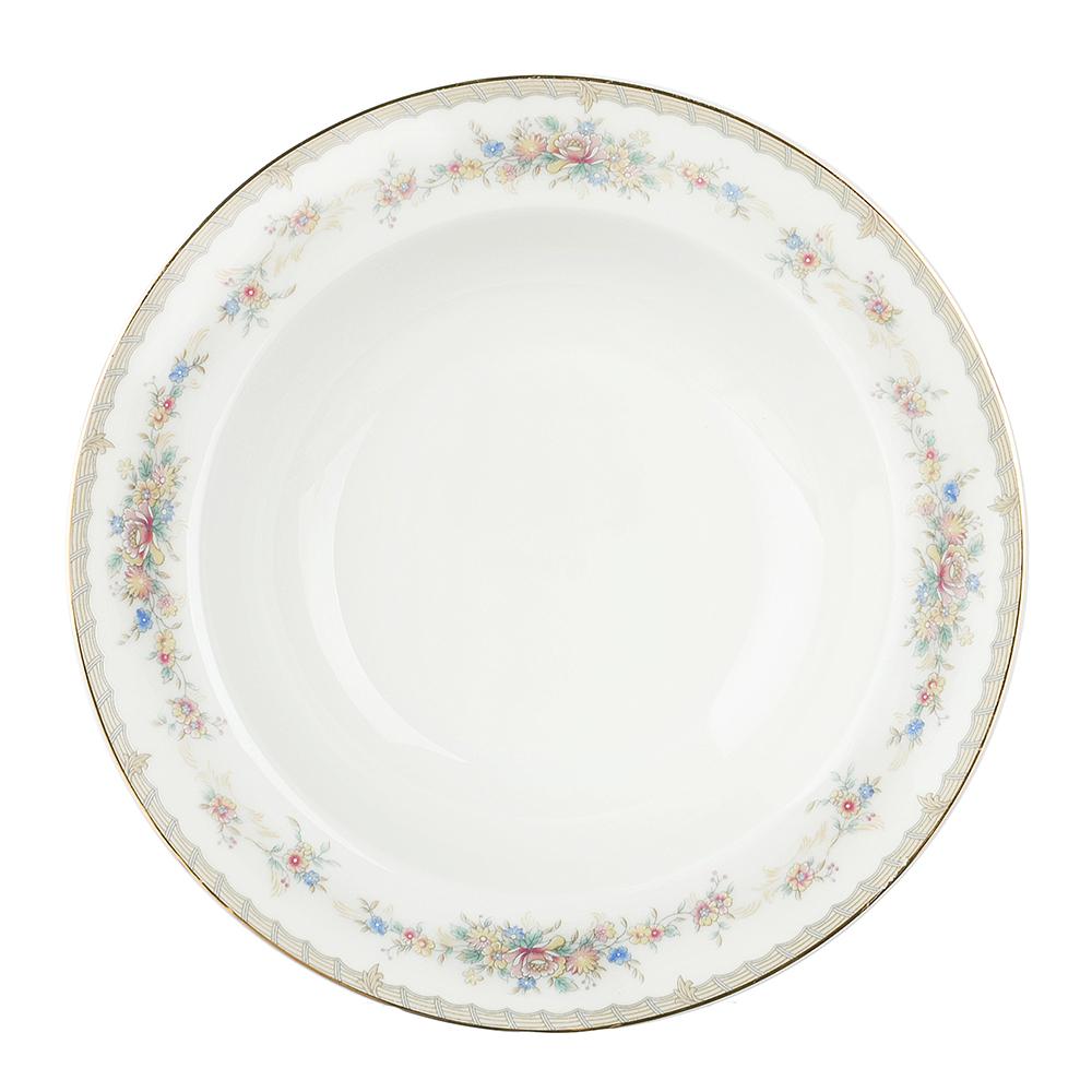 "Тарелка суповая, костяной фарфор, 21,5х4,5 см, MILLIMI ""Версаль"""