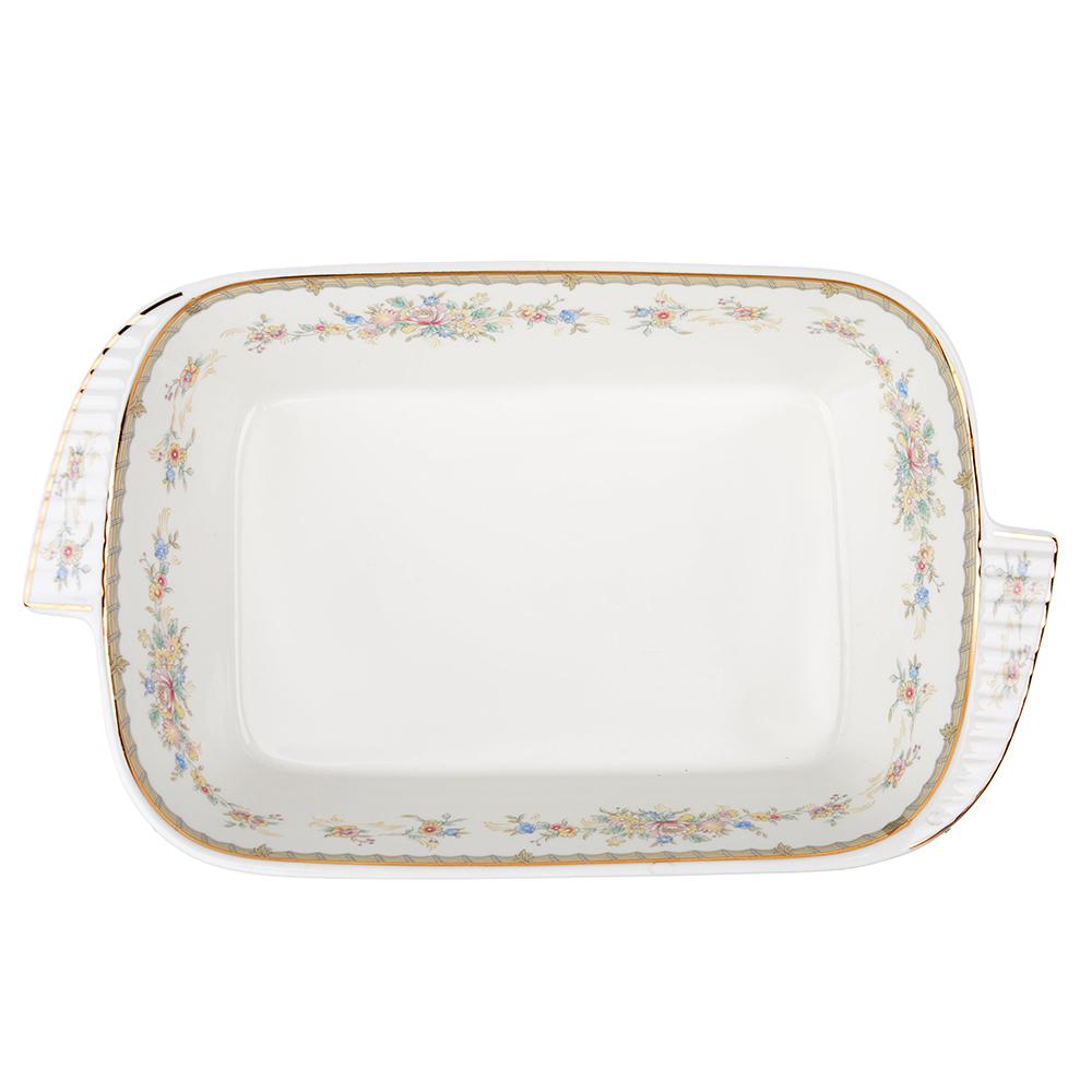 """Форма для запекания и многослойных салатов, костяной фарфор, 28х17х5 см, MILLIMI """"Версаль"""""""