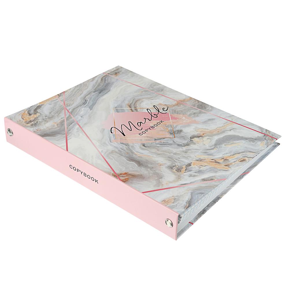 Тетрадь на кольцах, твердая обложка, блок 80 листов в комплекте, бумага, картон, 4 дизайна