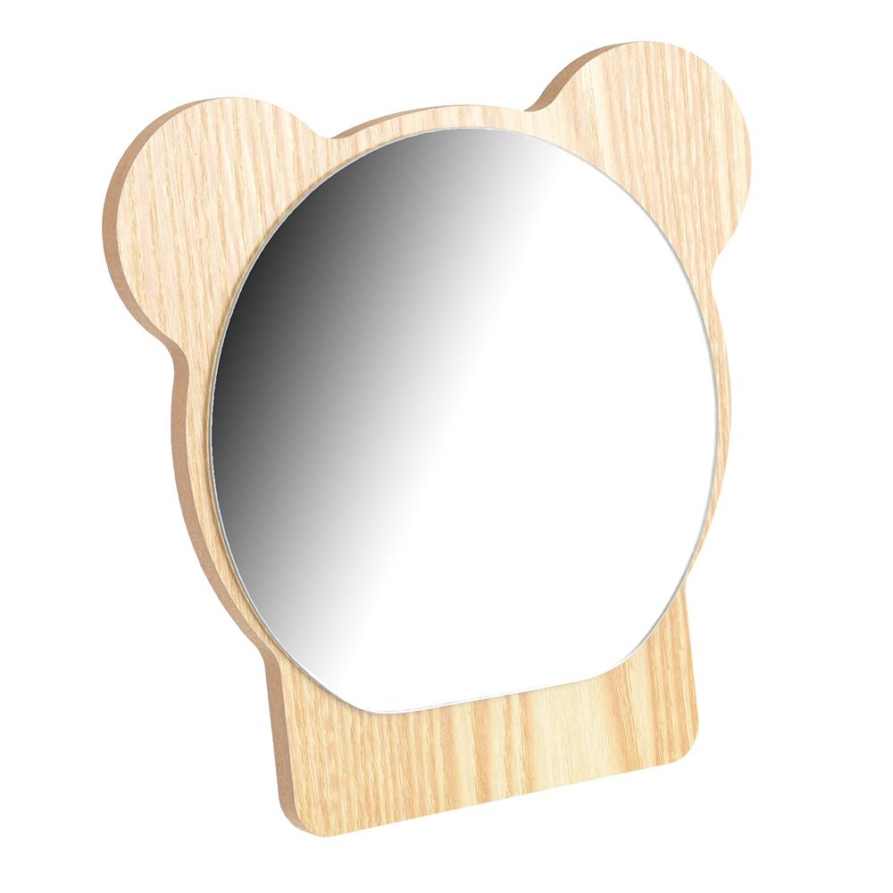 Зеркало настольное, 18х17 см, стекло, ДВП, 4 цвета