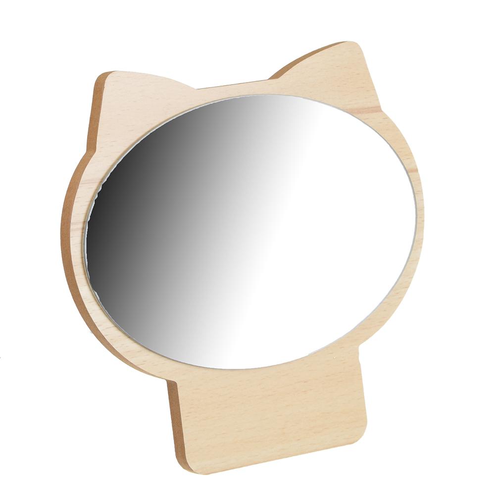 Зеркало настольное, 17,3х17 см, стекло, ДВП, 4 цвета
