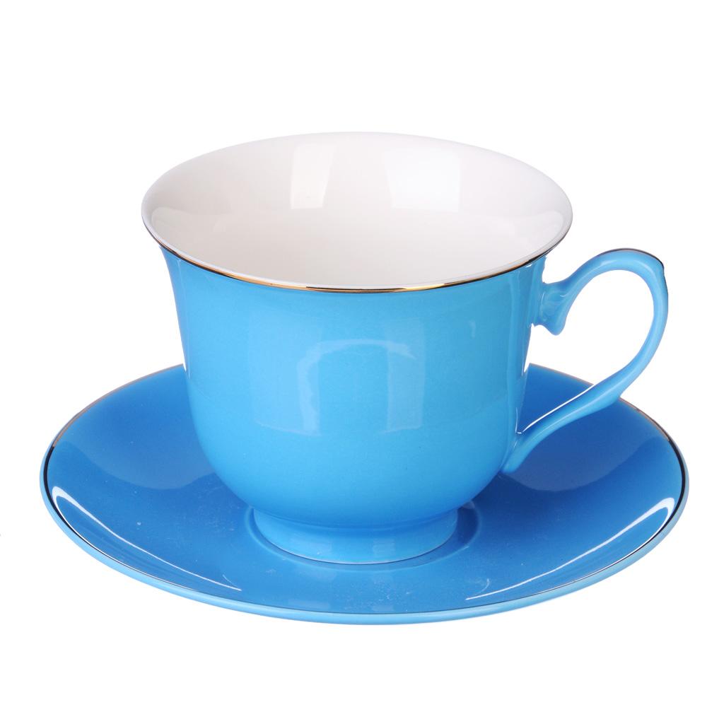 """Чайный сервиз 4 предмета, костяной фарфор, 250 мл, MILLIMI """"Пастель"""""""