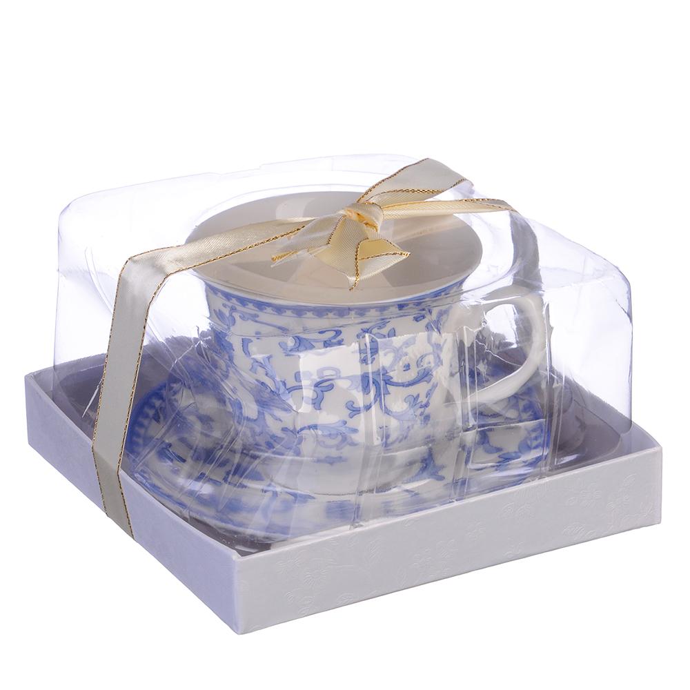 """Чайный сервиз 2 предмета, костяной фарфор, 250 мл, MILLIMI """"Майолика"""""""