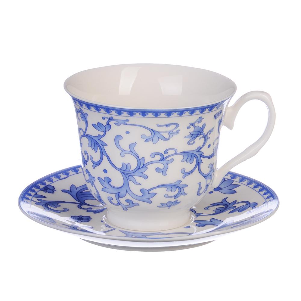 """Чайный сервиз 4 предмета, костяной фарфор, 250 мл, MILLIMI """"Майолика"""""""