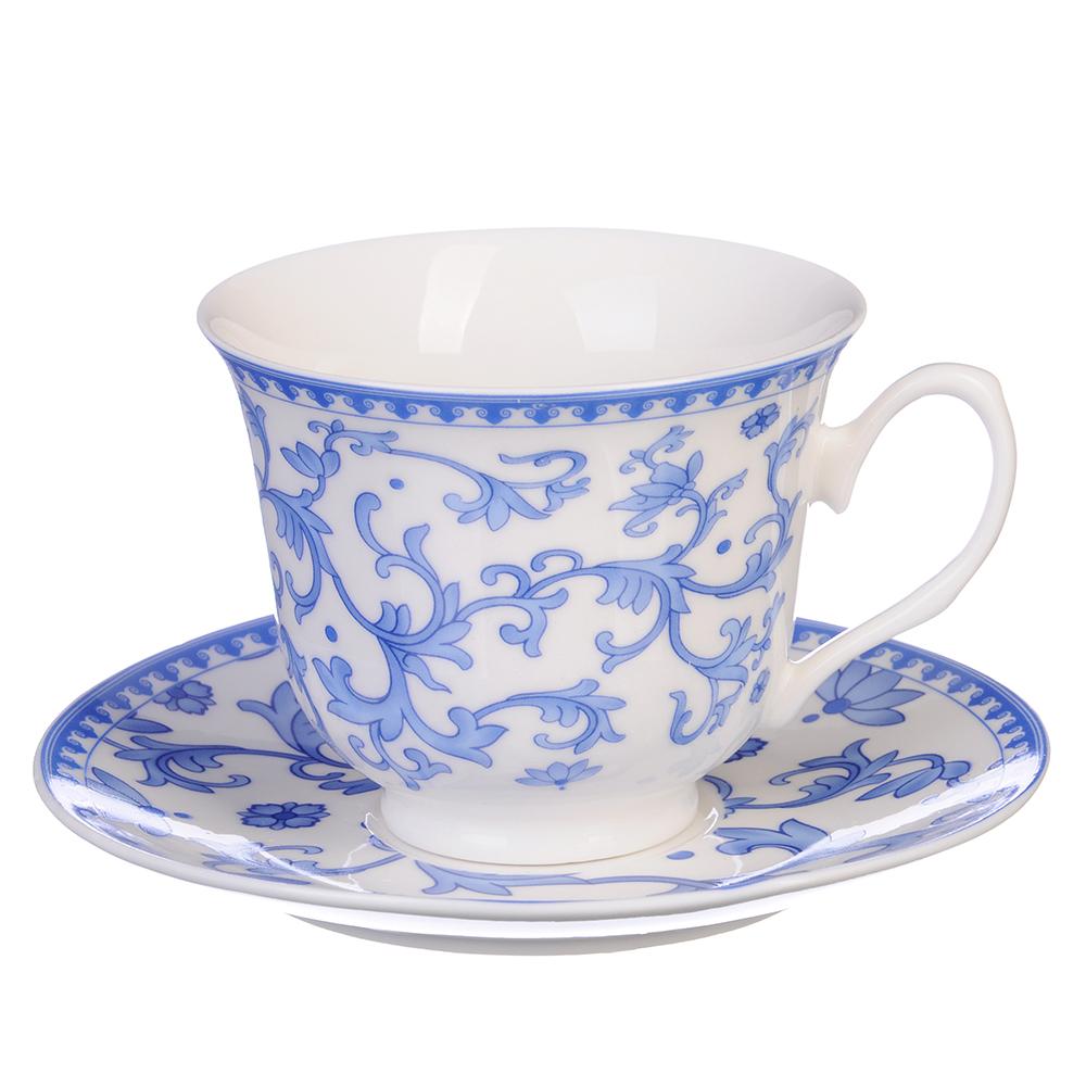 """Чайный сервиз 12 предметов, костяной фарфор, 250 мл, MILLIMI """"Майолика"""""""