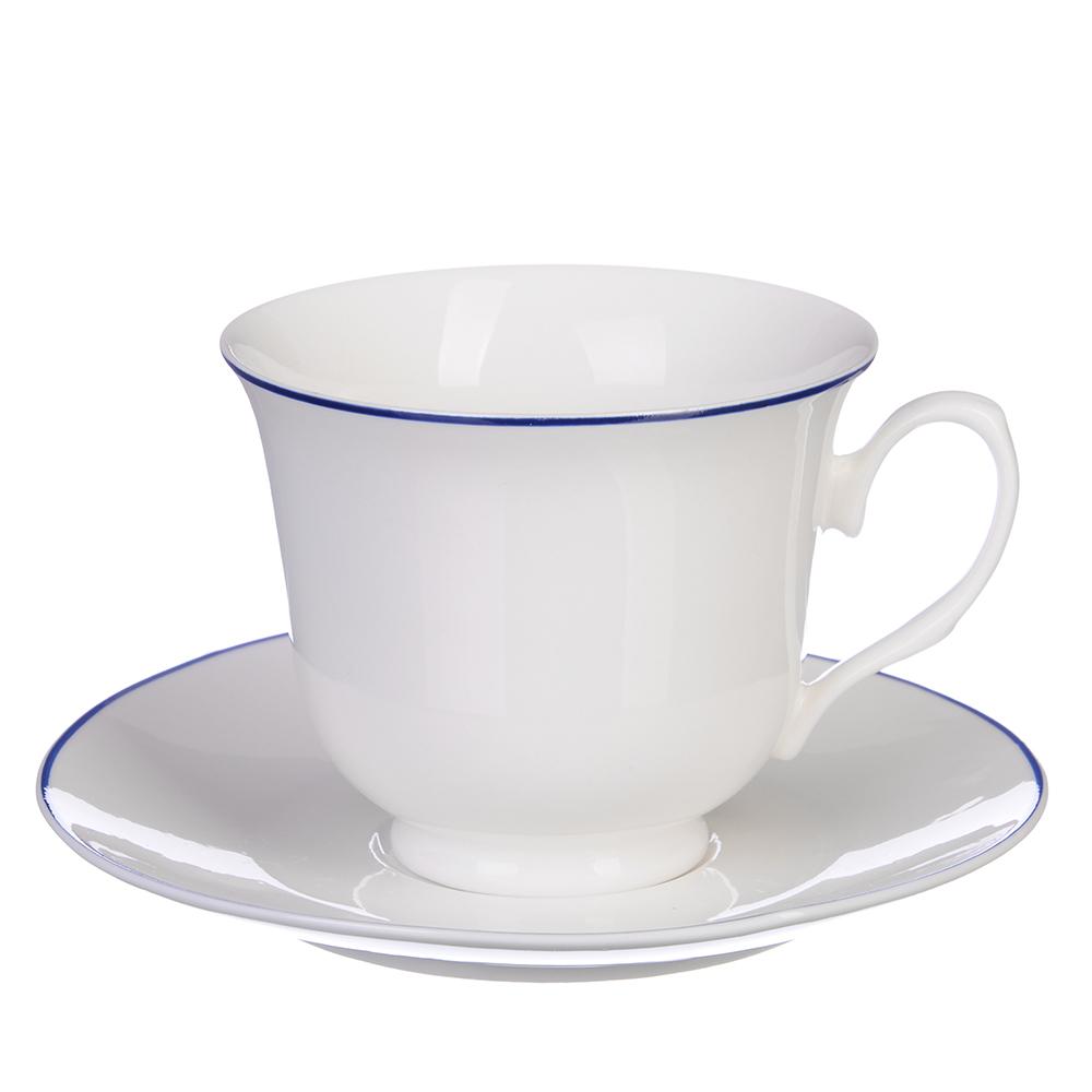 """Чайный сервиз 2 предмета, костяной фарфор, 250 мл, MILLIMI """"Марина"""""""