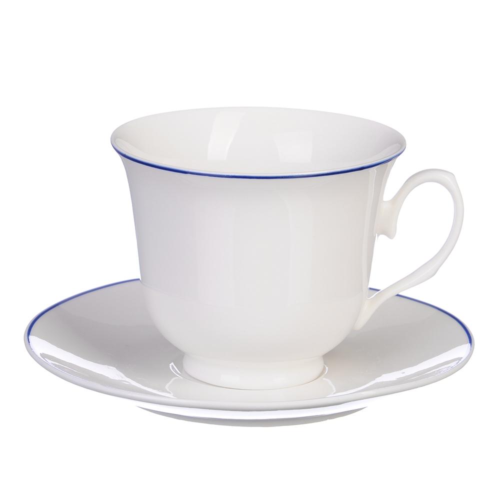 """Чайный сервиз 12 предметов, костяной фарфор, 250 мл, MILLIMI """"Марина"""""""