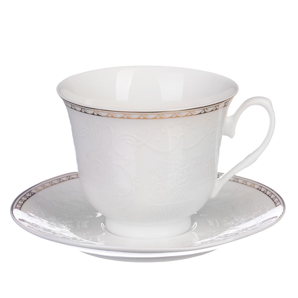 """Чайный сервиз 2 предмета, костяной фарфор, 250 мл, MILLIMI """"Анжелика"""""""