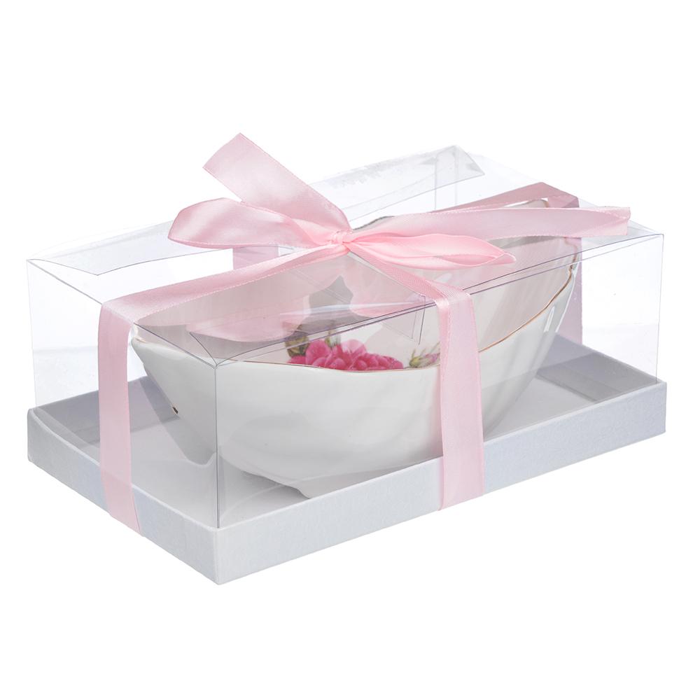 """Ваза для конфет, костяной фарфор, 20х12х7.5 см,, MILLIMI """"Шиповник"""""""