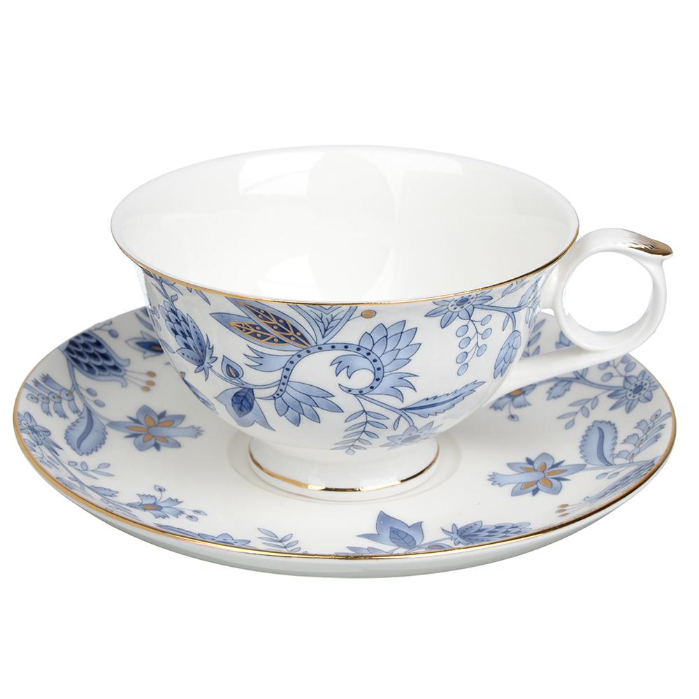 """Чайный сервиз 2 предмета, костяной фарфор, 250 мл, MILLIMI """"Грация"""""""