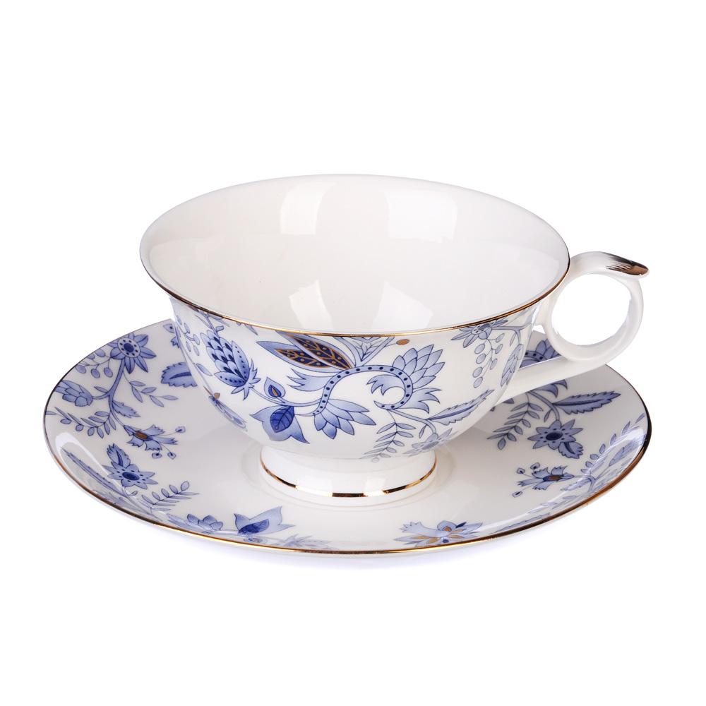 """Чайный сервиз 12 предметов, костяной фарфор, 250 мл, MILLIMI """"Грация"""""""