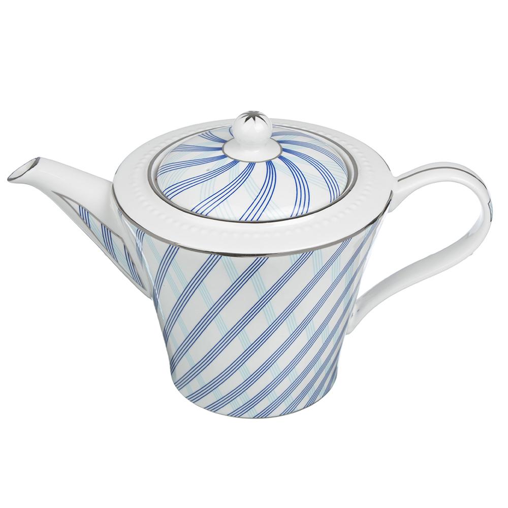"""Заварочный чайник, костяной фарфор, 800 мл, MILLIMI """"Лазурит"""""""
