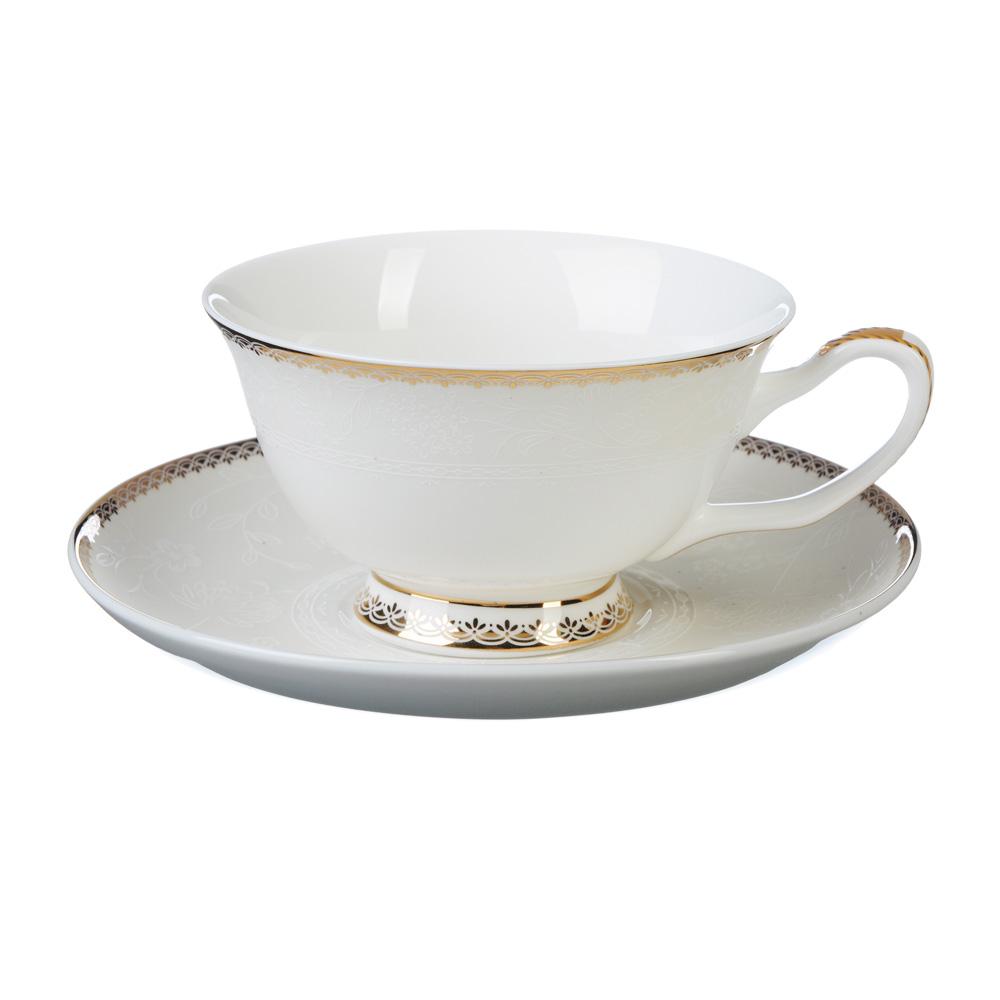 """Чайный сервиз 2 предмета, костяной фарфор, 220 мл, MILLIMI """"Дивина"""""""