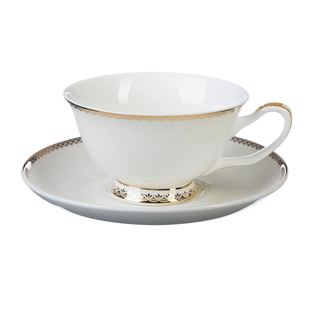 """Чайный сервиз 4 предмета, костяной фарфор, 220 мл, MILLIMI """"Дивина"""""""