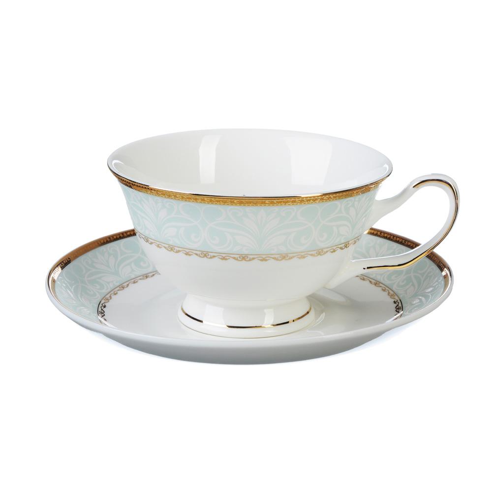 """Чайный сервиз 4 предмета, костяной фарфор, 220 мл, MILLIMI """"Мария"""""""