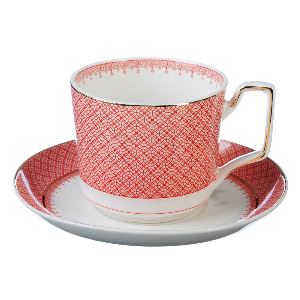 """Чайный сервиз 4 предмета, костяной фарфор, 260 мл, MILLIMI """"Мария"""""""