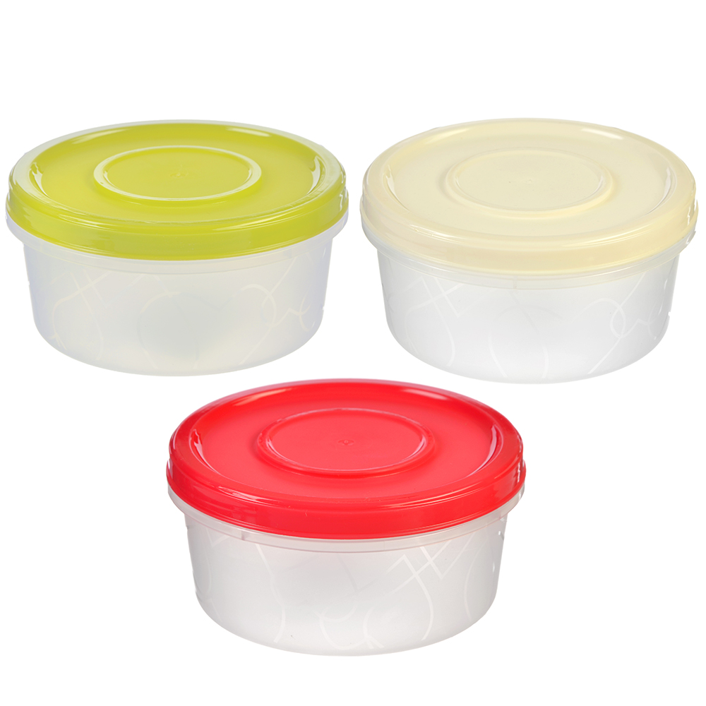 Банка для хранения продуктов с завинчивающейся крышкой 0,4 л, 3 цвета, пластик