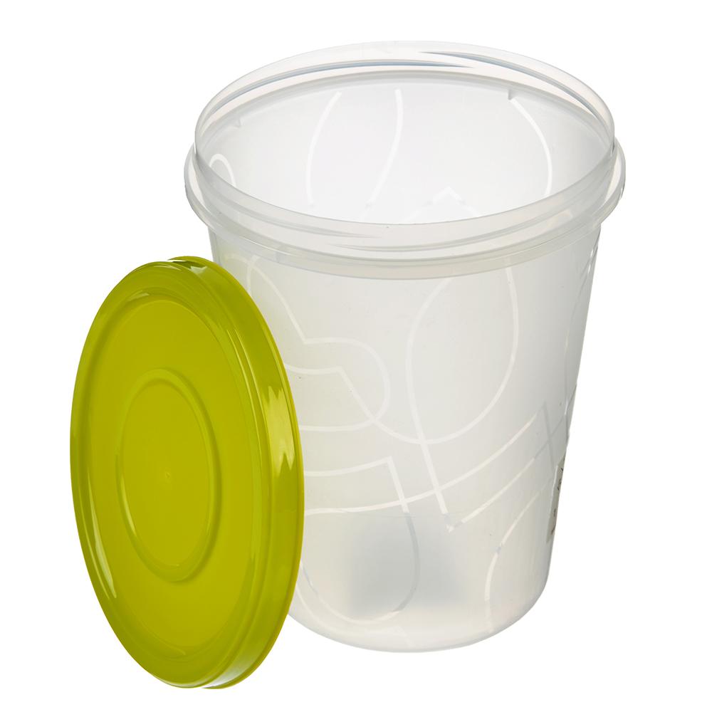 Банка для хранения продуктов пластиковая, с завинчивающейся крышкой 1,0л, 3 цвета, арт. GR1889